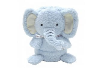 Fou Fou Dog My Pet Blankies 3-In-1 Blanket  Pillow  And Plush Toy (Blue Elephant)