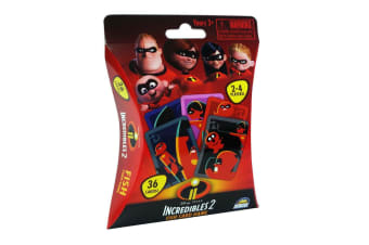 36pc Disney Incredibles 2 Fish Kids Educational Toys Playing Deck Card Game 3y+