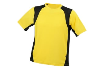 James and Nicholson Mens Sublimation Running Top (Yellow/Black) (L)