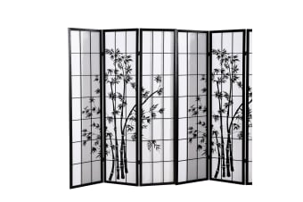 Levede 3/4/6/8 Panel Room Divider Screen Door Stand Privacy Fringe Wood Fold  -  8 Panel