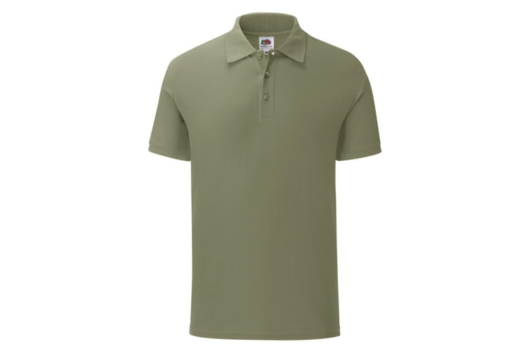 Fruit Of The Loom Mens Iconic Pique Polo Shirt (Classic Oliver Green) (S)