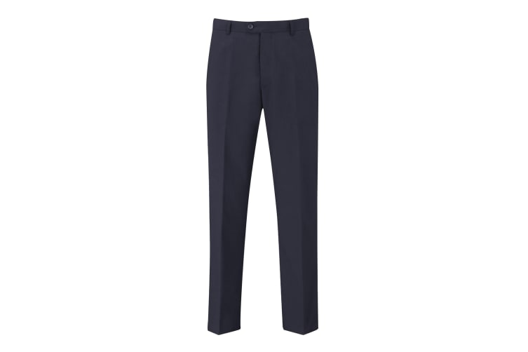 Skopes Mens Darwin Flat Fronted Formal Work/Suit Trousers (Navy) (40/R)