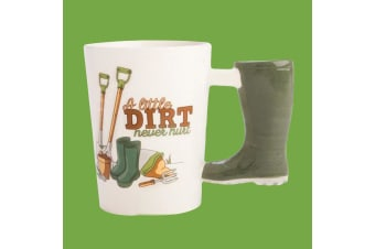 A Little Dirt Never Hurt Novelty Gardener Gumboot Handle Mug