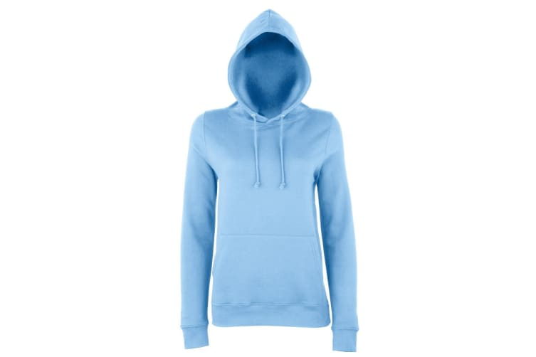 AWDis Just Hoods Womens/Ladies Girlie College Pullover Hoodie (Sky Blue) (XS)