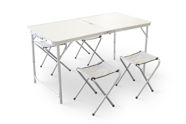 Komodo Portable Aluminium Folding Table with 4 Chairs