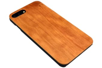 For iPhone 8 PLUS 7 PLUS Case Smooth Cherry Wooden Durable Protective Cover