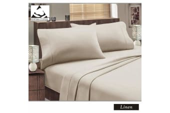 Flannelette Egyptian Cotton Sheet Set Linen KING SINGLE