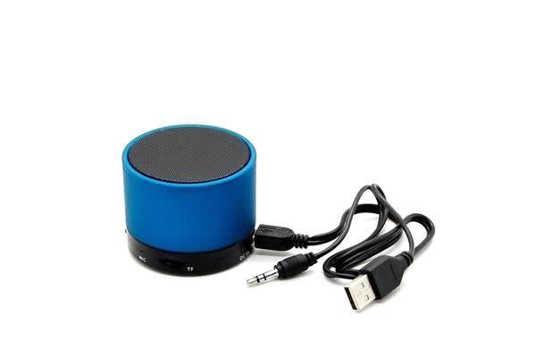 Blue Portable Mini Bluetooth Wireless AUX Stereo Music Speaker for iPhone iPad PC