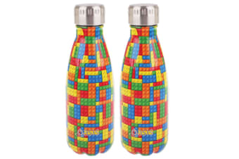 2x Oasis 350ml Double Wall Insulated Water Drinking Bottle Vacuum Flask  Bricks