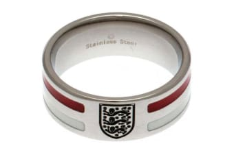 England FA Colour Stripe Ring (Silver/Red/White) (X)