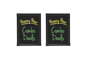 2x Quartet Flashing LED Battery Powered Writing/Message 44cm Board Glass/Sign
