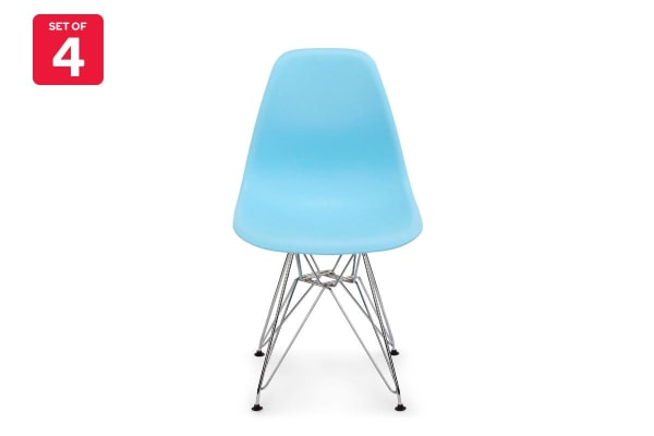 Shangri La Set Of 4 Dsr Dining Chairs Eames Replica Light Blue