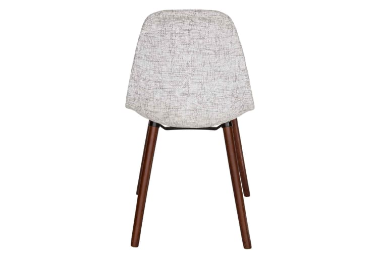 Replica Eames DSW Hal Inspired Chair   Textured Light Grey Fabric Seat   Walnut Legs
