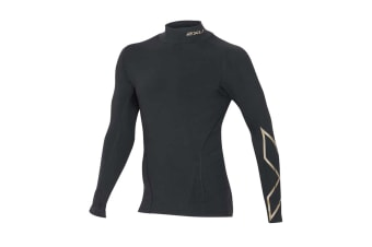 2XU Men's Alpine MCS Thermal Compression Top (Black/Gold)