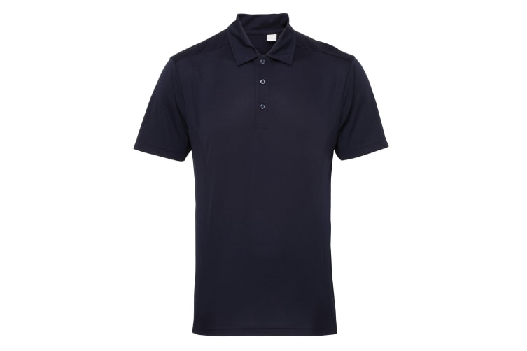 Tri Dri Mens Panelled Short Sleeve Polo Shirt (French Navy) (XL)