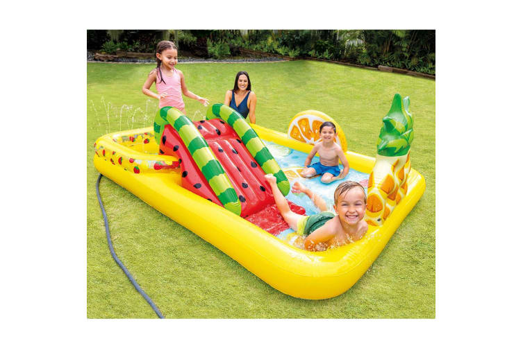Intex 244x191cm Play Fruit Center Kids Inflatable Swimming Pool w/Slide 3y+