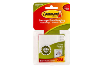 Command Medium Picture Hanging Strips (8 Pack)