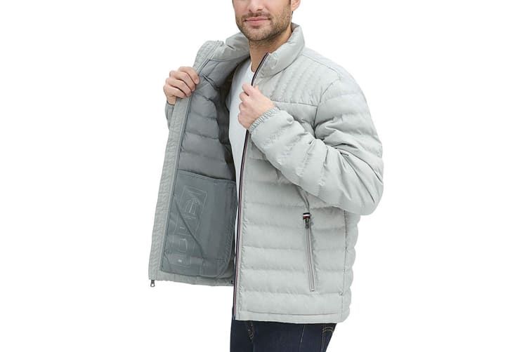 Tommy Hilfiger Men's Ultra Loft Packable Down Jacket (Stone, Size XXL)