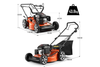 "Shogun 21"" Petrol Powered Lawn Mower 4 Stroke Lawnmower w/ 159cc Engine"