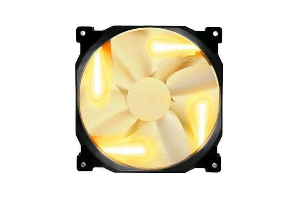 Phanteks PH-F140SP 140mm Black Frame White Blade Orange LED Premier Fan