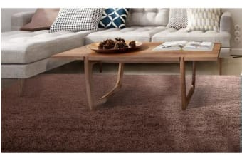 New Designer Ultra Soft Shaggy Floor Confetti Rug Coffee 150x80cm