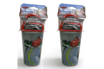 2PK Disney Cars Insulated Straw Cup Toddler/Child Sippy BPA Free Drink Bottle