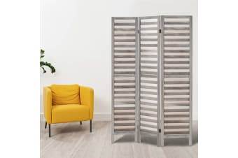 Artiss 3 Panel Room Divider Screen Privacy Wood Dividers Timber Stand Grey 170cm