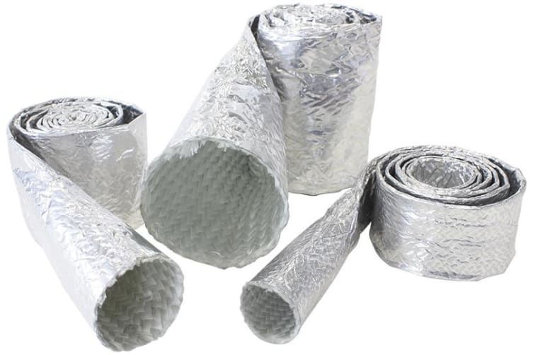 "Aeroflow Aluminised Sleeve 2-1/8-2-1/2""Silver Finish 1M / 3Ft"