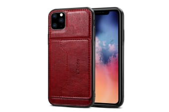 For iPhone 11 Pro Dibase TPU + PC + PU Wild Horse Texture Protective Case Wallet   Red