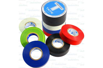 PVC ELECTRICAL INSULATION TAPE X 10  20M ADHESIVE PROFESSIONAL BLACK BLUE RED