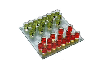 Shot Glass Chess Drinking Game Set Large Board Drink Games