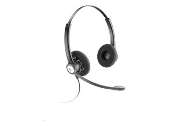 Plantronics 79181-12 ENTERA HW121N OVER-THE-HEAD WIDEBAND BINAURAL NC CORDED HEADSET TOP Noise