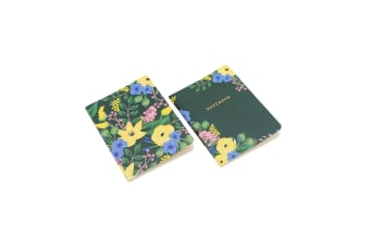 Painted & Pressed Notebooks (Set Of 2) (Green)
