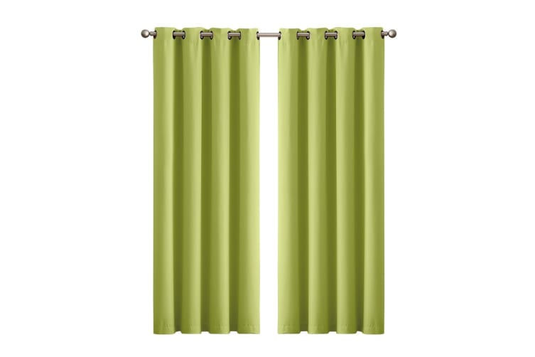 2X 90% Blockout Curtains Panels 3 Layers Eyelet Room Darkening 230cm Drop  -  Mustard240x230cm