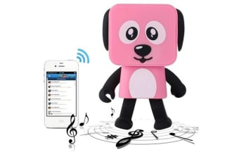 TODO Bluetooth V4.1 Dancing Robot Dog Speaker Portable Rechargeable - Pink