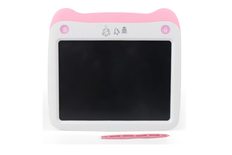 WJS 8.5 Inch LCD Smart LCD Electronic Tablet Can Remove The Graffiti Painting Board for Children-Pink