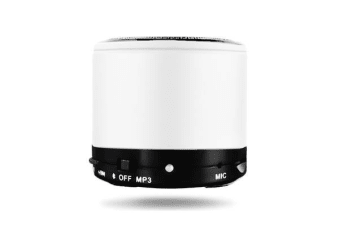 White Portable Mini Bluetooth Wireless AUX Stereo Music Speaker for iPhone iPad PC