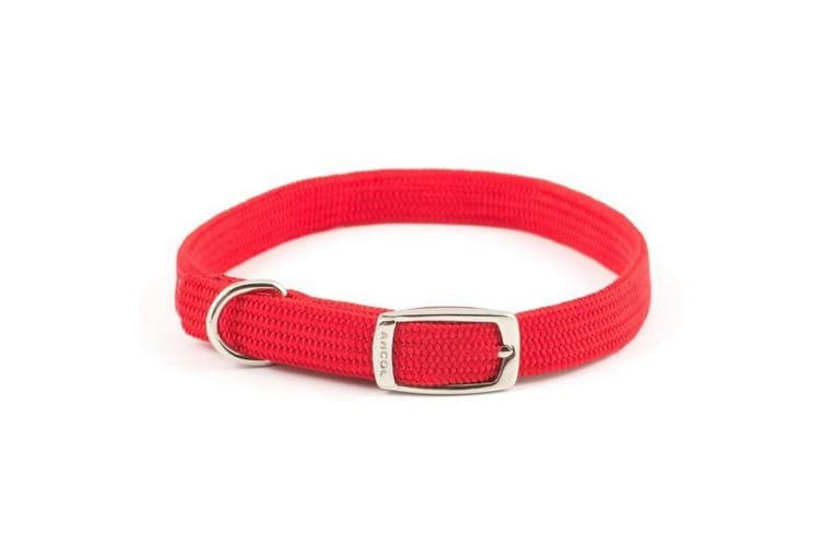 Ancol Heritage Softweave Buckle Fasten Dog Collar (Red) (Size 3)