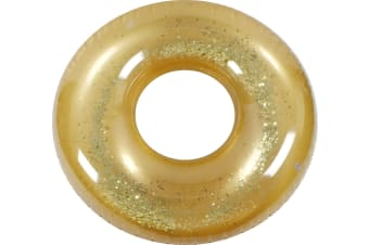 Metallic Glitter Swim Ring Gold