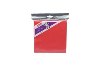 Caroline 2 Ply Napkins (Pack of 20) (Red) (One Size)