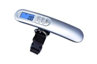 50Kg Portable Luggage Scale Baggage Bag Lcd Display 50G Graduation Clip