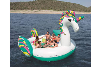 Bestway 43228 Giant Unicorn pool beach float Multicolor Floating island 5.9x4.04m