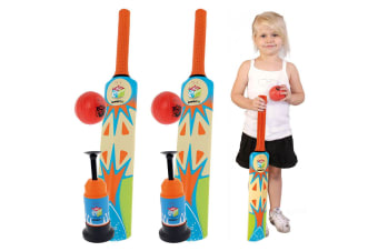 2x Summit 3pc Play Set Cricket Bat Launcher and Ball