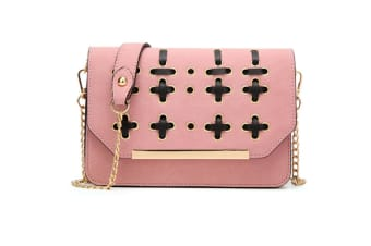 Women PU Leather Cross Body Shoulder Messenger Bag Handbag Pink