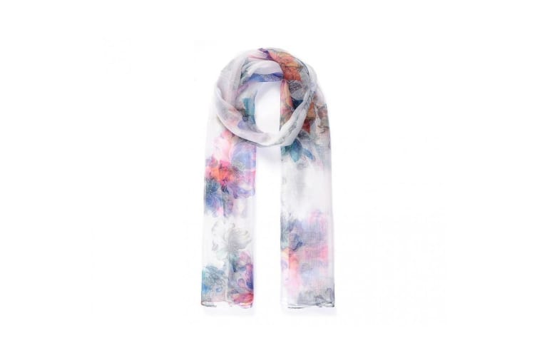 Intrigue Womens/Ladies Floral Digital Print Sheer Scarf (Multicoloured) (One Size)