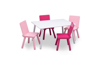 Delta Children Kids Table and Chairs Set Pink