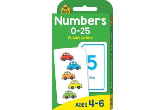 School Zone Numbers 0-25 Flash Cards (new cover)