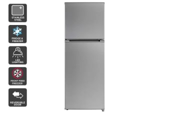 Kogan 239L Top Mount Fridge - Stainless Steel