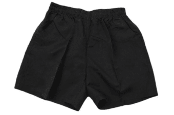 Adult Mens Casual Training Running Jogging Gym Sport Microfibre Shorts -Black