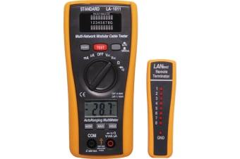 Combination Auto Ranging DMM & LAN Cable Tester